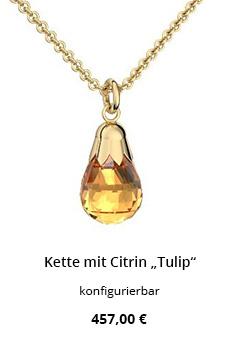 Halskette Citrin