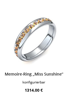 Memoire Ring mit Citrin