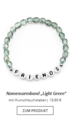 Namensarmband mit Perlen in Grün