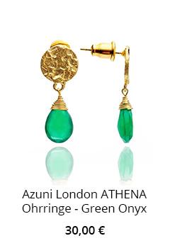 Ohrringe mit Onyx in Grün
