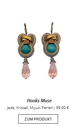 Ohrhänger Muse mit Jade