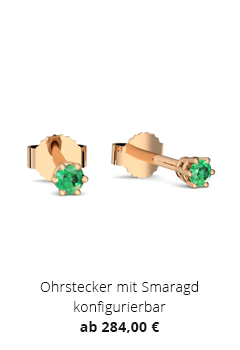 Ohrstecker mit Smaragd