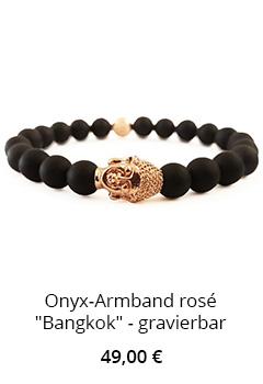 Onyx-Armband mit Buddha
