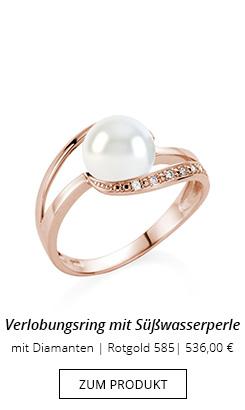 Ring mit Perle und Diamant