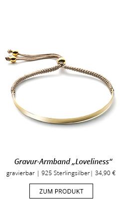 Armband aus Stoff mit Gravurplatte