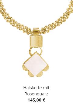 Halskette mit Rosenquarz
