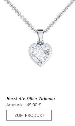 Halskette Herzanhänger
