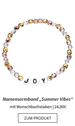 Namensarmband mit Perlen Summer Vibes