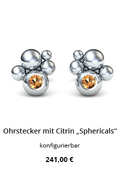 Ohrstecker Silber mit citrin