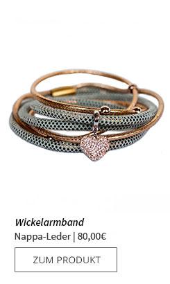 Wickelarmband aus Nappa-Leder