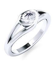 Ring Silber mit Diamant