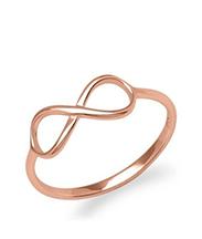 Infinity Ring rosevergoldet