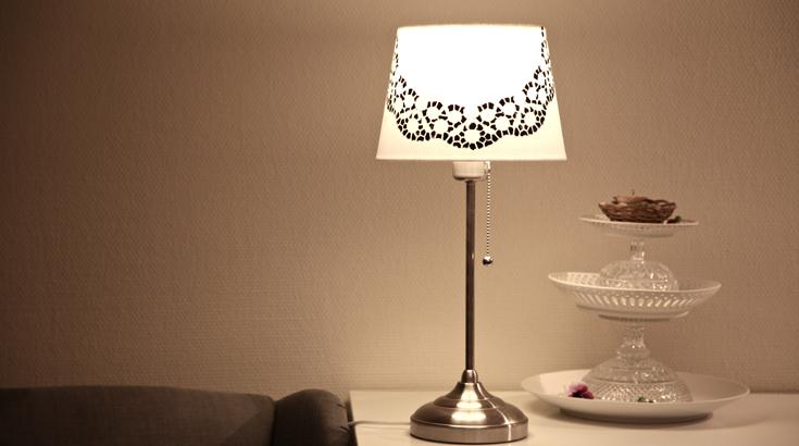 Lampenschirm im neuen Gewand