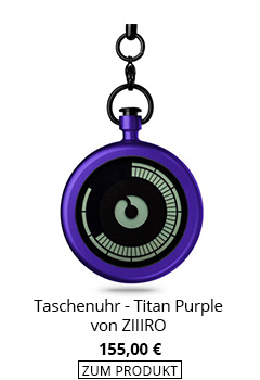 Taschenuhr digital in Blau