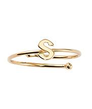 Buchstabenring S in Gold