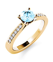 Ring Gold mit Aquamarin