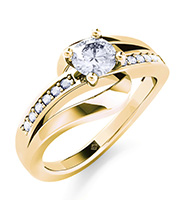 Verlobungsring Infinity Elegance Gold