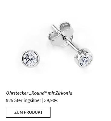 Ohrstecker Round 925 Sterlingsilber