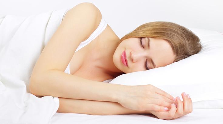Schön über Nacht im Schlaf