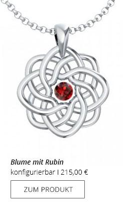 Silberkette Blume