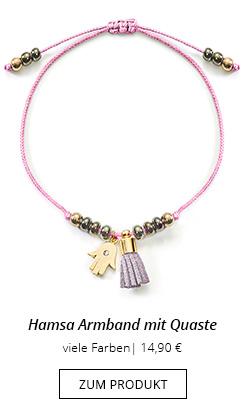 Hamsa Armband mit Quaste