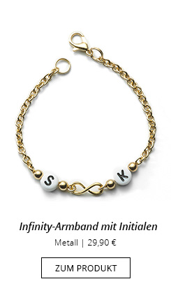 Infinity-Armband Messing
