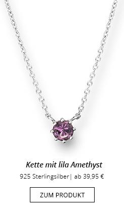 Kette mit Anhänger Amethyst lila