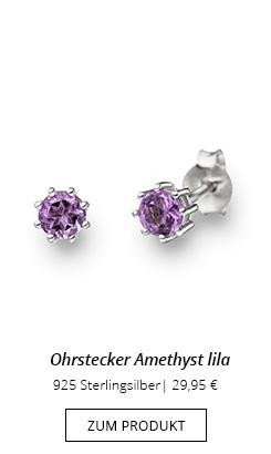 Edelstein Ohrstecker Amethyst lila