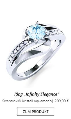Silberner Ring mit Steinbesatz