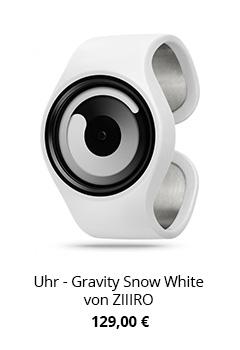 Ausgefallene Uhr in Weiß Schwarz
