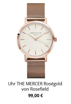 Uhr Mesh Armband Roségold
