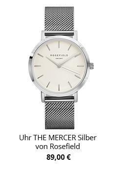 Uhr The Mercer silber von Rosefield