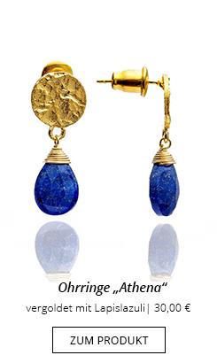 Ohrringe Gold Blau Lapislazuli