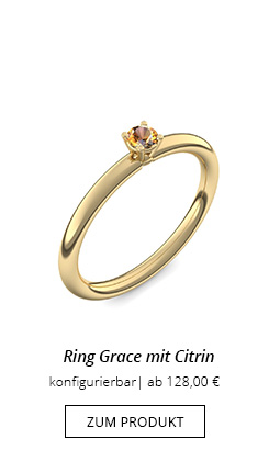Ring Grace in Gelbgold mit Citrin