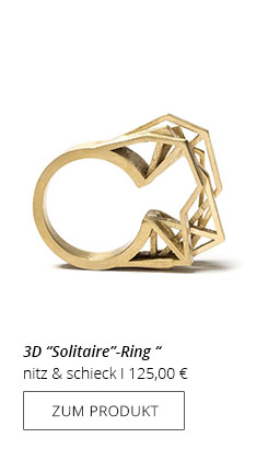 Solitaire-Ring Messing