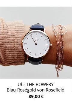 Uhr in Blau Bowery Rosefield