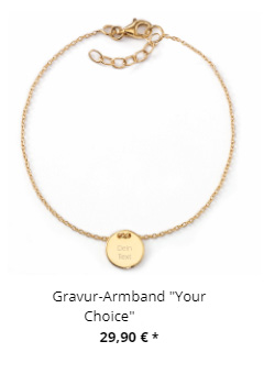 Gravur Armband Your Choice gold