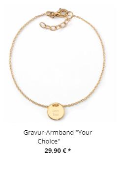 Gravur Armband Your Choice gold