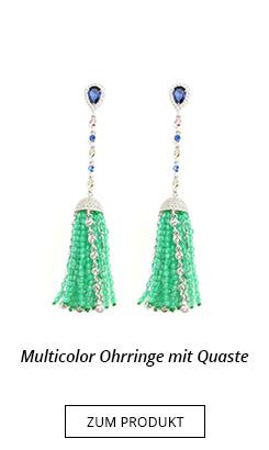Ohrhänger mit bunten Perlen und Quaste