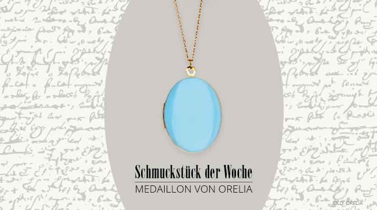 Schmuckstück der Woche: Halskette mit Medaillon von Orelia