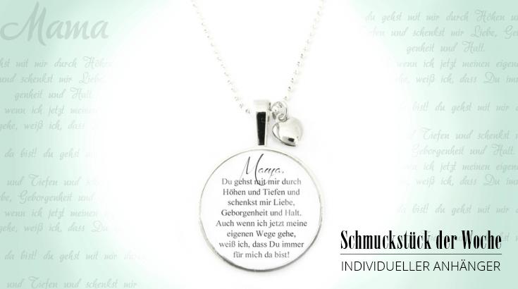 Schmuckstück der Woche: Halskette mit Wunschtext