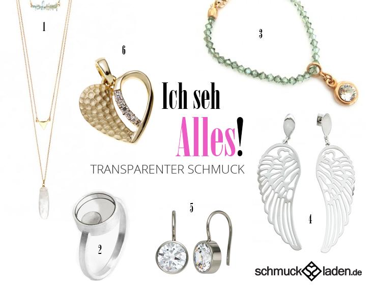 Transparenter Schmuck von schmuckladen.de