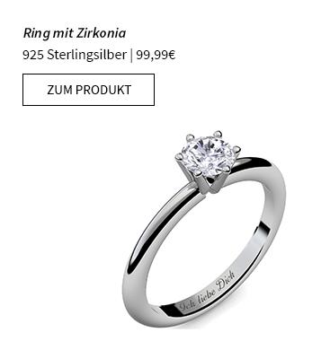 Ring mit Zirkonia 925 Sterlingsilber