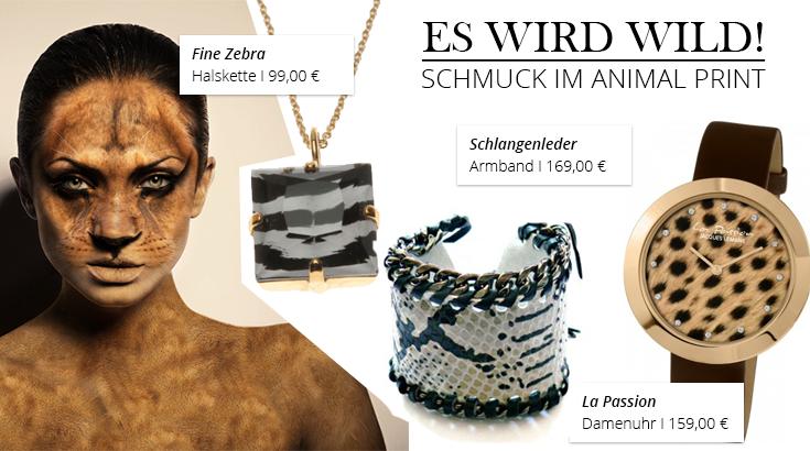 Schmuck & Uhren mit Animal Print